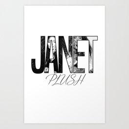 Janet Jackson - Plush Art Print