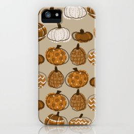 Pumpkin Party in Almond iPhone Case