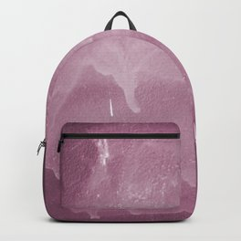 Pink graffiti stain on gray background ready for picture, clothes, furniture, iphone cases Backpack