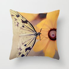 {Gentle Visitor} Throw Pillow