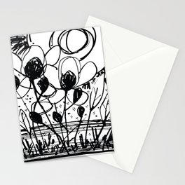 Scribble Doodle Flowers No.4A by Kathy Morton Stanion Stationery Cards