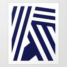 Nautical Stripes Art Print