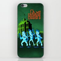 ghostbusters iPhone & iPod Skins featuring Hitchhiking Ghostbusters by Sam Carter AKA Cartarsauce