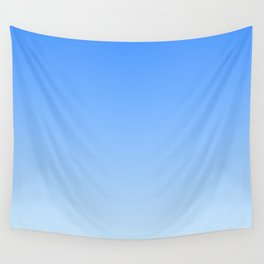 Sky Blue Gradient Wall Tapestry