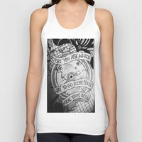 compass Tank Tops featuring COMPASS by Gabrielle Wall