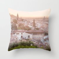 florence Throw Pillows featuring Florence by ocophoto