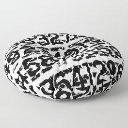 Numbers pattern Floor Pillow