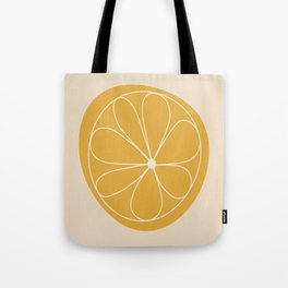 Daisy Line Abstract - Golden Yellow Tote Bag