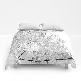 Copenhagen Map White Comforters