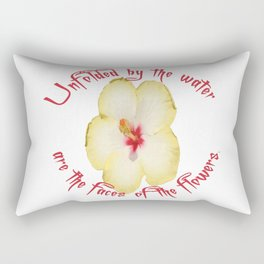 Unfolded By The Water Are The Faces Of The Flowers Rectangular Pillow