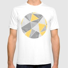 Pattern, grey - yellow Mens Fitted Tee SMALL White