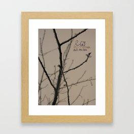 To December Framed Art Print
