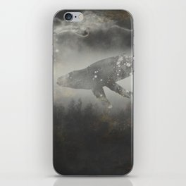 Dream Space - Surreal Image with A Whale iPhone Skin