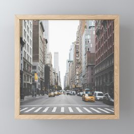 USA Photography - Street In New York City Framed Mini Art Print