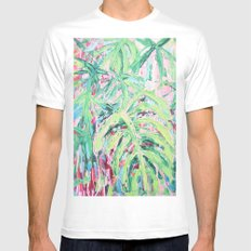 Bermuda Palms Mens Fitted Tee White MEDIUM