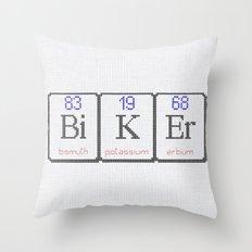 BiKEr Chemical Elements Cross StiTch Throw Pillow