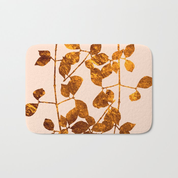 fall golden leaves Bath Mat
