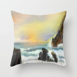 Living in Peace Throw Pillow