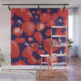 Strawberries Kiss me Wall Mural