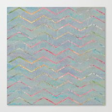 Chevron Rainbows Canvas Print