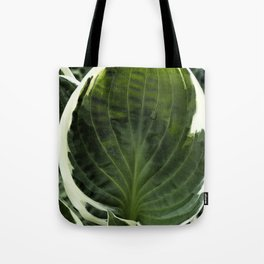 Hosta Leaf With Water Drop Tote Bag