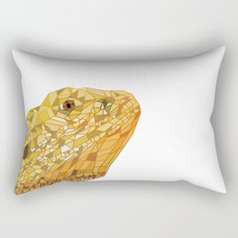 Geometric Bearded Dragon Rectangular Pillow