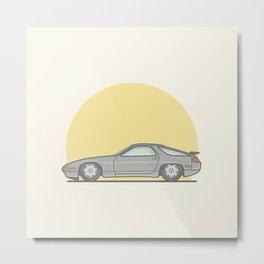 Porsche 928 vector illustration Metal Print
