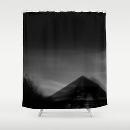 Pyramid at night Shower Curtain