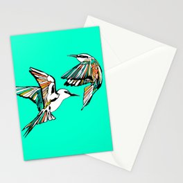 Dancing Rainbow Bee Eater Birds Stationery Cards