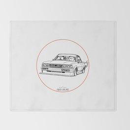 Crazy Car Art 0209 Throw Blanket