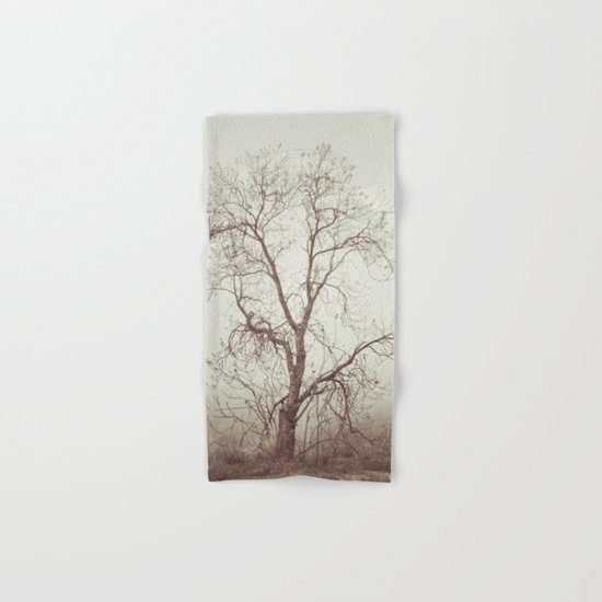 """ Talking to the trees"". Into the woods. Hand & Bath Towel"