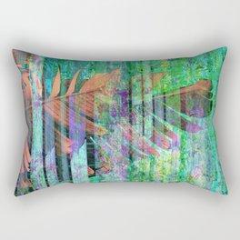 350 3 Abstract Botanical Leaves Rectangular Pillow