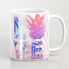 Love Pineapple Typography Tropical Boho Summer Vibes Coffee Mug