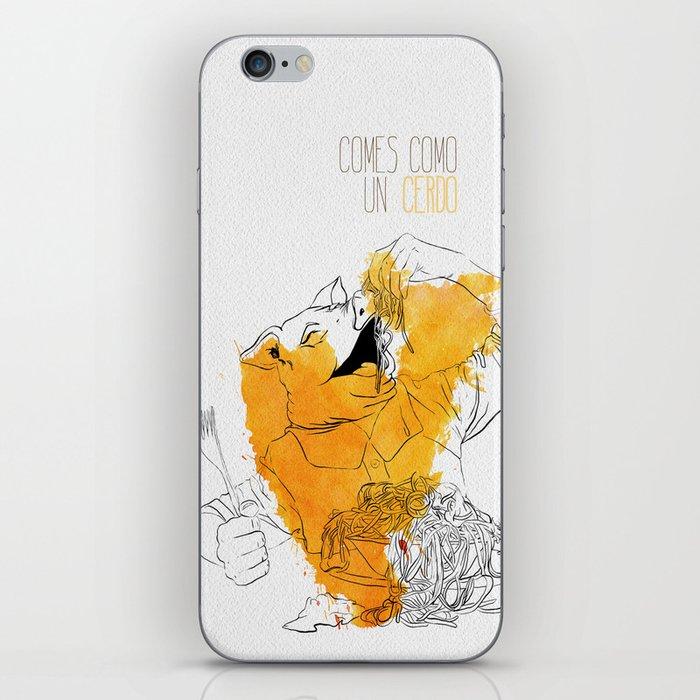 Comes como un cerdo (you eat like a pig) iPhone Skin