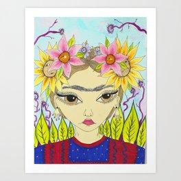 Flores de Frida Art Print