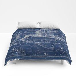 Leo sky star map Comforters