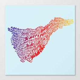Tenerife In Words Canvas Print