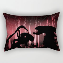 Forest Aliens Rectangular Pillow