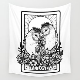 The Lovers Tarot Card Wall Tapestry