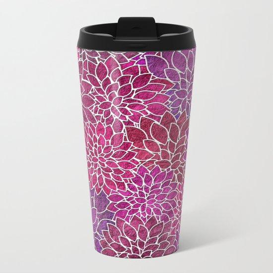 Floral Abstract 18 Metal Travel Mug