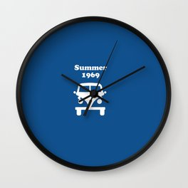 Summer 1969 - blue Wall Clock