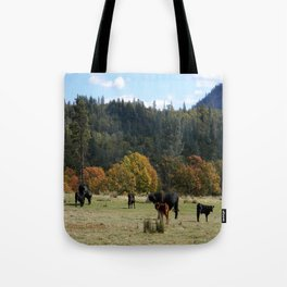 Out on the range... Tote Bag