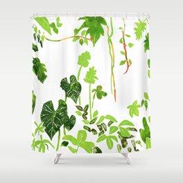Rainforest Foliage Shower Curtain