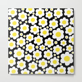 60s Daisies Pop Art Metal Print
