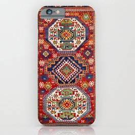 Three Medallion Kazak Southwest Caucasus Carpet Print iPhone Case