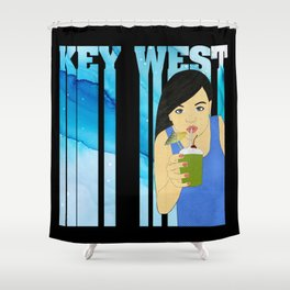 Drink Up in Key West Shower Curtain