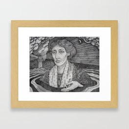 Women in Water: Virginia Woolf Off the Isle of Skye Framed Art Print
