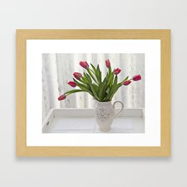 Bejewelled tulips Framed Art Print