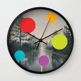 Road, Rain, Forest, Presences Wall Clock