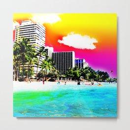 Waikiki Beach Part II Metal Print